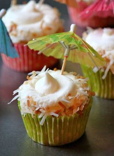 Pina Colada Cupcakes by Baked Perfection