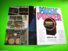 SATELLITE 200 By NSM 1983 ORIGINAL JUKEBOX PHONOGRAPH PROMO SALES FLYER BROCHURE  #nsm #phonograph