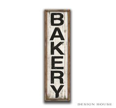 Wooden Bakery sign framed out in wood frame.  Handmade Business signs bakery plaques bakery wall decor kitchen signs kitchen wall decor