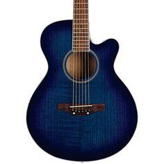 Daisy Rock Sophomore Cutaway Acoustic Guitar Boyfriend Blue