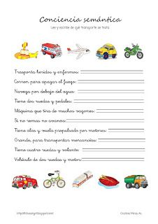 Cositas de AL y PT: Conciencia semántica Cognitive Activities, Speech Therapy, Spanish, Language, How To Plan, Speech Pathology, Special Education, Activities, Alphabet
