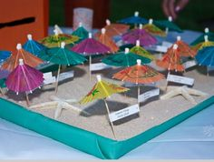 Click Pic for 26 DIY Beach Wedding Ideas   Umbrella Seating Chart   Beach Theme Wedding Decorations