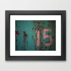 Number 15 Framed Art Print by Rainer Steinke - $40.00