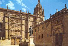 Esta es la universidad de Salamanca donde Unamuno ejerció durante varios años como rector