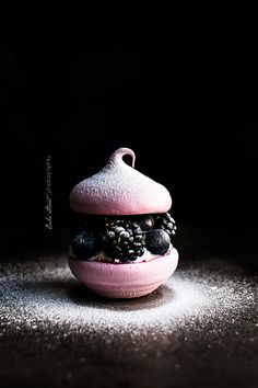 Mini Pavlovas de frutos morados