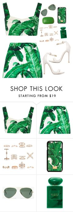 """Green Envy"" by southern-mom ❤ liked on Polyvore featuring Dolce&Gabbana, New Look, Madewell, Giorgio Armani, Sisley, Summer, ootd and summerstyle"