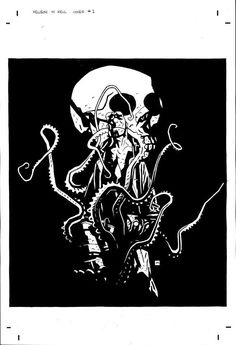 Unpublished Hellboy in Hell cover - Mignola