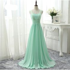 Mint Green Bridesmaid Dress Royal Blue Pink Party Dresses Chiffon Floor Length Vestido De Festa Cheap Bridesmaid Dress Under 50