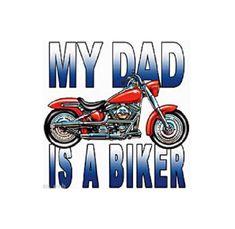 Kid's Motorcycle Biker T Shirt, My Dad Is A Biker Children's Youth Size T SHIRT, Sweatshirt, Quilt Fabric Block, Tote Bag, Style # 420a by AlwaysInStitchesCo on Etsy