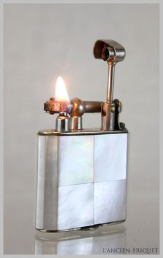 Working Art Deco Mother of Pearl Lift Arm Petrol by LancienBriquet, $60.00
