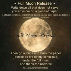 Something Excellent to do on the Super Moon…But keep your intentions and wishes pure and clear…. as it is a very powerful time