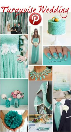 Boho Pins: Turquoise Wedding. Turquoise, teal or Tiffany Blue is such a bright fresh colour it really does make any wedding pop