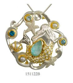 Sky Blue Topaz, White Freshwater Pearl, Baby Blue Topaz, Teal Topaz and Amazonite + Mother of Pearl + white quartz - Poseidon's Treasures Collection