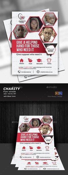 Charity Flyer Template PSD, Vector EPS, AI Illustrator