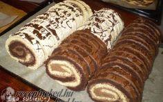 Érdekel a receptje? Kattints a képre! Raw Food Recipes, Cookie Recipes, Types Of Cakes, Hungarian Recipes, No Bake Pies, Strudel, Cake Cookies, Cupcakes, Hot Dog Buns