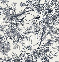 Tule Quietude in Dusk, Leah Duncan, Art Gallery Fabrics, Cotton Fabric, Art Gallery Fabrics, Surface Pattern, Surface Design, Textures Patterns, Fabric Patterns, Floral Patterns, Duncan, Small Canvas, Book Quilt
