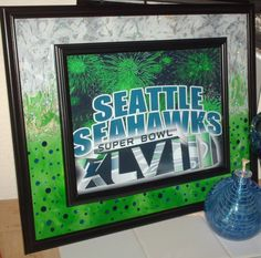 NFC Champions Seattle Seahawks Superbowl 48 by GlassByPriscilla, $119.99