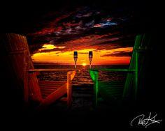 Enjoying the sunset at Pine Island, Hernando County, Florida.