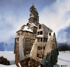Wooden Gagster House (Archangelsk, Russia) | Strange Buildings by frankie