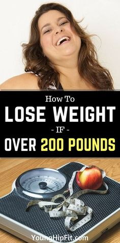 How to lose weight if over 200 pounds. 5 steps to make it work! Learn how to handle things the right way so you can lose weight and keep it off for good, just by reading this article! #LoseWeightIdeas