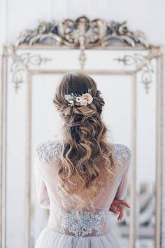 Hair comb blush Bridal hair comb Blush Wedding hair comb