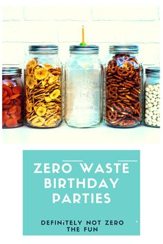 How to host a zero waste birthday party. Tips and ideas.