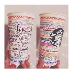 Aztec-inspired design and lettering by Germaine Dela Cruz. #WhiteCupContest