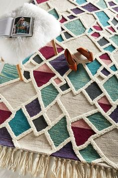 Shop the Tufted Geode Rug and more Anthropologie at Anthropologie today. Spring Nail Colors, Spring Nails, Punch Needle Patterns, Latch Hook Rugs, Hand Tufted Rugs, Rug Hooking, Sisal, Rugs On Carpet, Swatch