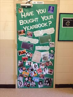 Great idea for yearbook room door from Collinwood High in TN.