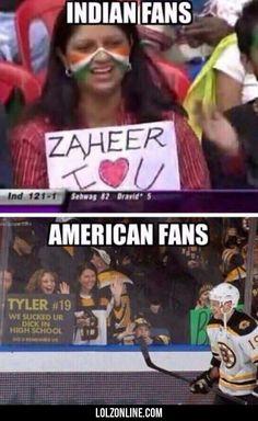 Indian Fans Vs American Fans...#funny #lol #lolzonline