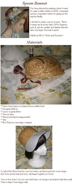 Lily of the Valley: Tutorial: Straw Bonnet