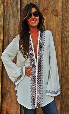 Beautifully made blouse..can be worn like a dress..imagining with some fab cowboy boots loving this