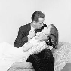 Humphrey Bogart and Lauren Bacall in Howard Hawks's THE BIG SLEEP ('46)