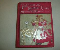 Alice In Wonderland Through The Looking Glass,Rare,Illustrated,Color,Children's