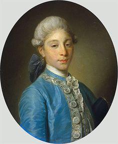 Title: Portrait of Marquis de Saint Paul, c.1755/65  Artist: Jean-Baptiste Greuze  Medium: Canvas Art Print - Giclee