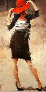André Kohn is a Russian-born painter whose style is described as figurative impressionist. For biographical notes -in english and italian- by Kohn see: Andre Kohn, 1972 Illustration Art, Illustrations, Art For Art Sake, Woman Painting, Oeuvre D'art, Figurative Art, Female Art, Creative Art, Watercolor Art