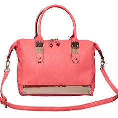 Solid Gold Satchel in Coral by Elise Hope by Elise Hope on Opensky