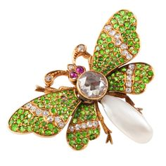 Butterfly Pin   From a unique collection of vintage brooches at https://www.1stdibs.com/jewelry/brooches/brooches/