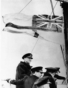 Under the white ensign of the Royal Navy, Admiral Sir Bertram Ramsay, left, Allied naval commander-in-chief, watches the invasion fleet en route to France on June 1944 from the bridge of a motor torpedo boat. Naval History, Military History, Naval Flags, Vintage Sailor, Royal Marines, Great Life, Historical Images, Navy Ships, D Day