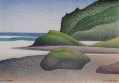 Don Binney. Shoreline, Anawhata (2009)