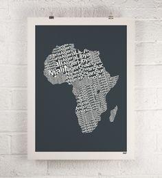 ORANGE & PARK - Africa print