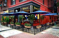 Helmers restaurant, Hoboken, NJ - one of the best steak sandwiches I've ever eaten. Outdoor Restaurant Design, Restaurant Exterior Design, Restaurant Concept, House Restaurant, Outdoor Cafe, Outdoor Seating, Outdoor Dining, Hoboken Restaurants, Greenhouse Cafe