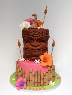 Tiki~Luau Cake by http://www.veryuniquecakes.com