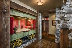 Moonlight Ranch Residence - as a child I would have been captivated to sleep in a bed done up as a old time railway sleeper car.