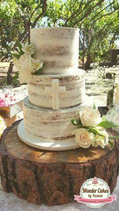 decoracao de primeira comunhao bolo desconstruido
