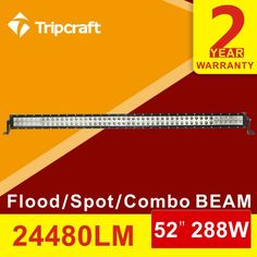138.71$  Buy here - http://alita4.worldwells.pw/go.php?t=32748153624 - 52Inch 288W LED Light Bar for Off Road Indicators Work Driving Offroad Boat Car Truck Tank 4x4 SUV ATV Fog Spot+ Flood Combo 12V