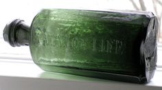 Covert's Balm of Life Antique Bottles, Old Bottles, Glass Bottles, Apothecary, Colored Glass, Fused Glass, Liquor, Jars, Vintage Antiques