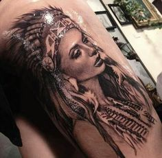Realism Indian maiden