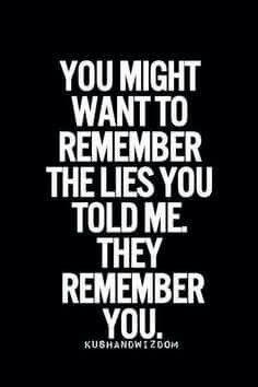 Stop lying