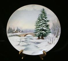 STUNNING Winter Scenic Limoges Charger